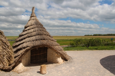 Reconstruction of a Neolithic house